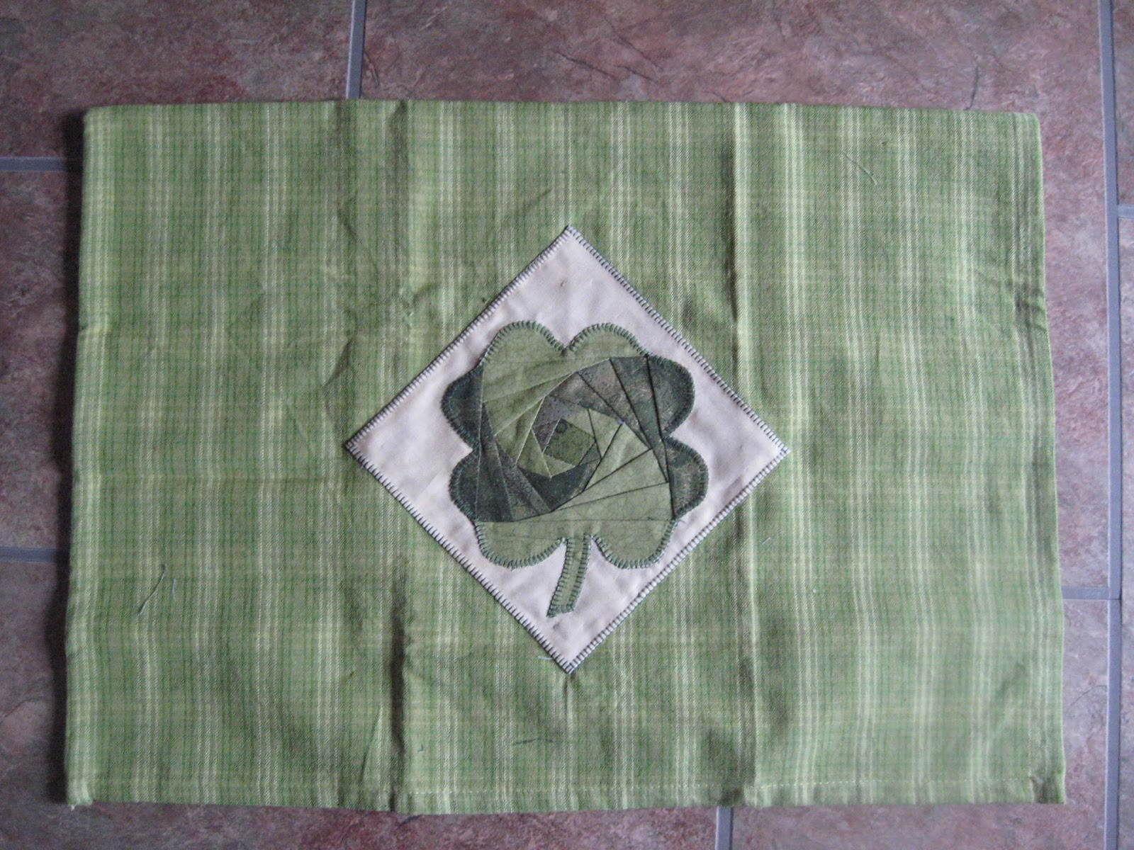 Random Acts Of Stitching Paper Pieced Shamrock Towel