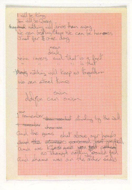 Manuscrito de Heroes, David Bowie