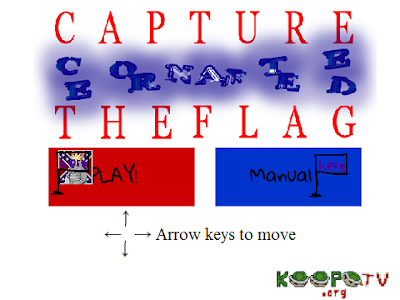 Capture the Confederate Flag alternate playable user interface title screen