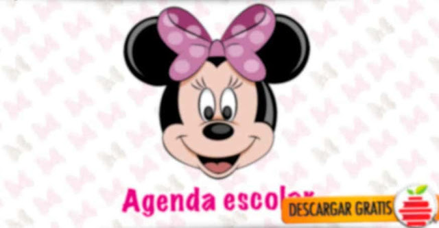 hermosa agenda Minni Mouse gratis para nuestras engreídas