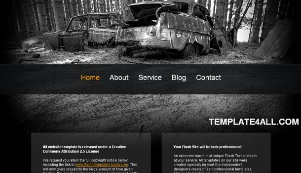 Old Cars Black CSS Website Template