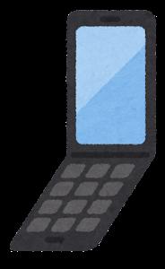 携帯電話のイラスト(2世代折りたたみ)