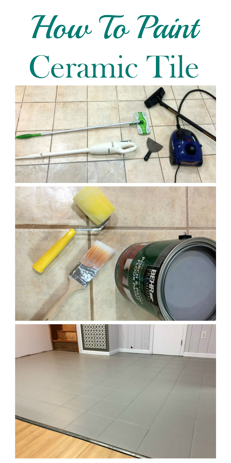 Real girls realm how to clean and paint ceramic tile hate your ceramic tile you do not have to tear it out just paint dailygadgetfo Gallery