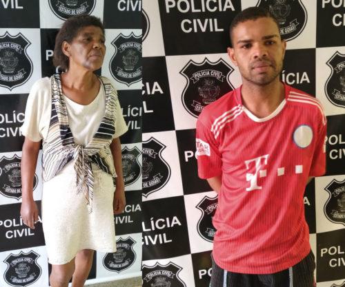Vianópolis: Polícia Civil prende mãe e filho suspeitos de homicídio