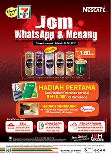 Peraduan Nescafe Jom Whatsapp & Menang
