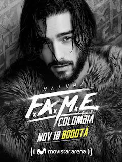 POSTER Concierto de MALUMA en Bogotá 2018