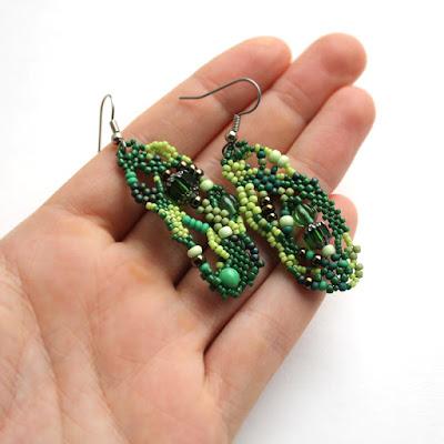 серьги под зеленое платье купить в интернет магазине