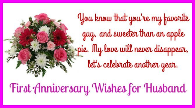 Adorable Wedding Anniversary Messages for Husband Greeting Card