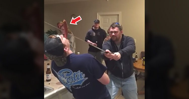 Drunk man slices off friend's nose in failed sword stunt