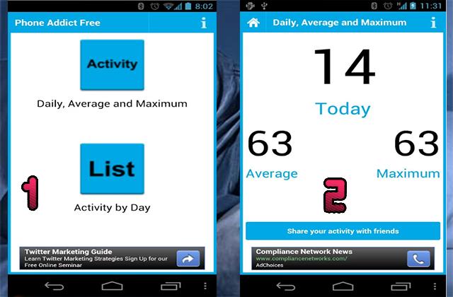 Phone Addict  تطبيق رائع سيخبرك إن كنت مدمن على هاتفك أم لا