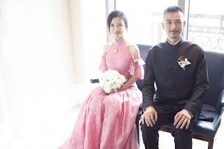 吳中天、楊子姍身著夏姿•陳訂製禮服 台北婚宴演繹中式浪漫