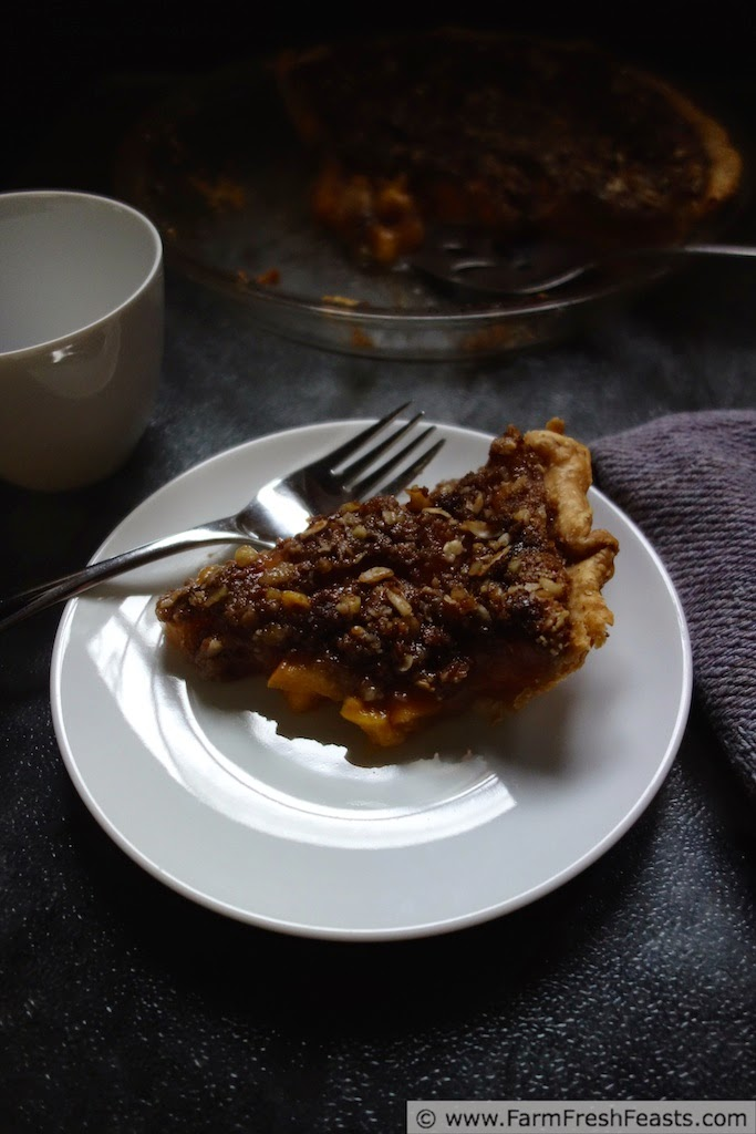 Peach Pie with Ginger Crumble Topping | Farm Fresh Feasts