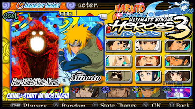 Naruto Shippuden: Ultimate Ninja Heroes 3 PSP ISO Download for Android