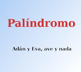 ejemplo de palíndromo