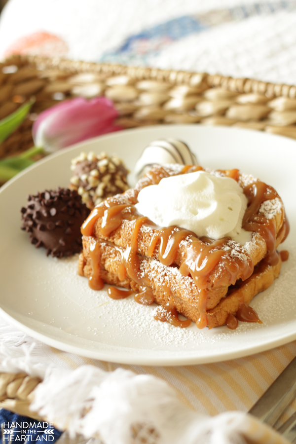 Simple Salted Caramel French Toast Recipe for Mother's Day