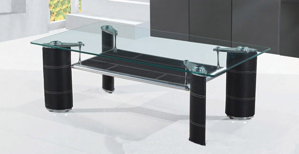 Gabriela Rectangular Gl Chromed Tail Table
