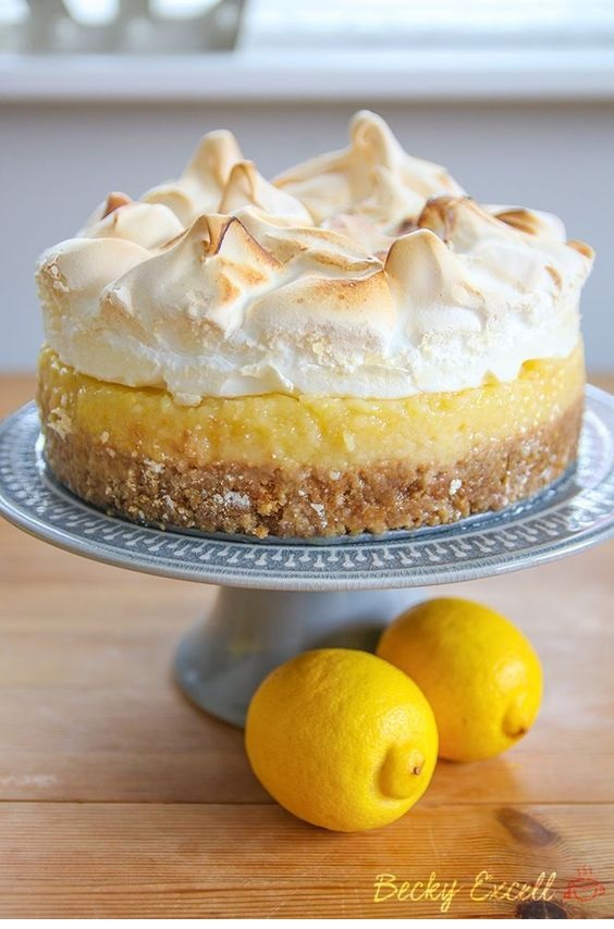 Gluten Free Lemon Meringue Pie Recipe With Biscuit Base