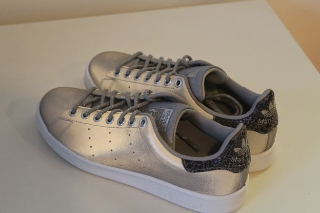 Stan Smith metallic canvas sneakers