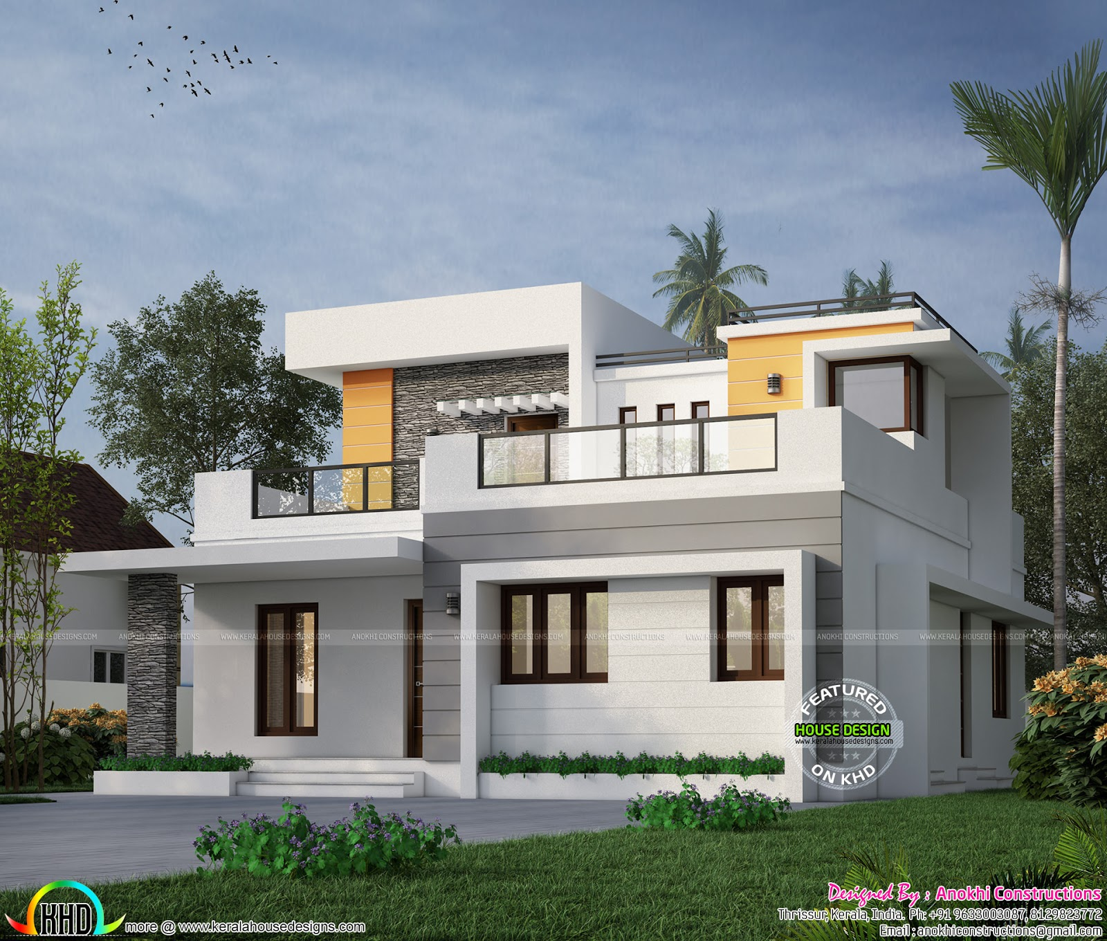 Modern House Theme In 2019: House Construction For 26 Lakhs