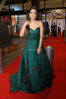 Raashi Khanna in Dark Green Sleeveless Strapless Deep neck Gown at 64th Jio Filmfare Awards South ~  Exclusive 158.JPG