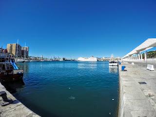 Espagne Andalousie Malaga le port