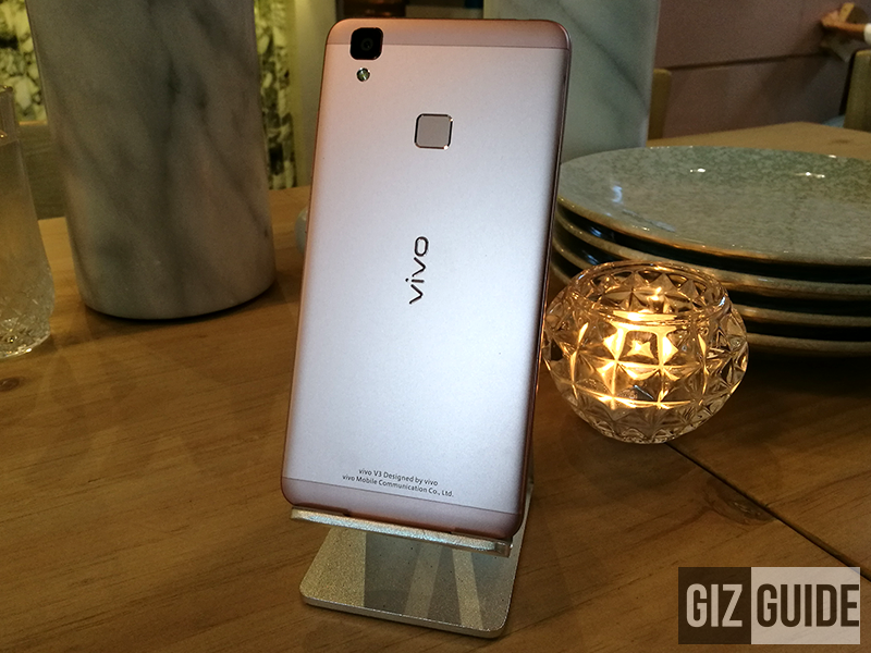 At the back featuring the main camera, single LED flash, and fingerprint scanner