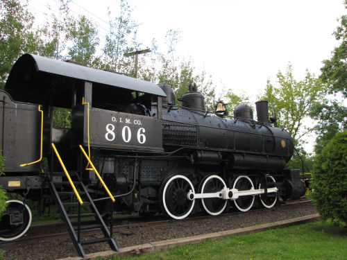 Oliver Iron Mining Steam engine 806 with 0-8-0 wheels