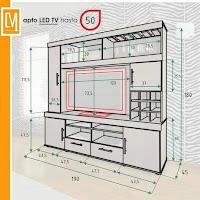 Diseños de muebles para la Televisión planos
