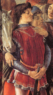 A young Lorenzo as he appeared in Botticelli's Adoration of the Magi