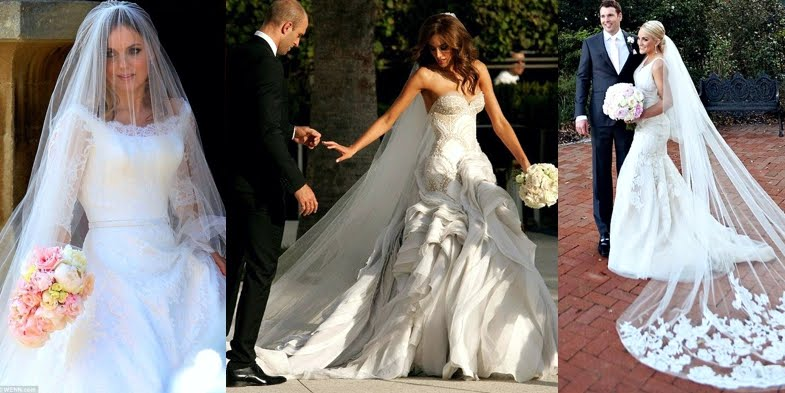 Celebrities' Wedding Dresses