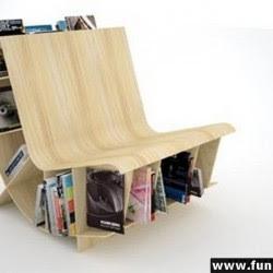 Diseño de sillón único porta revistas