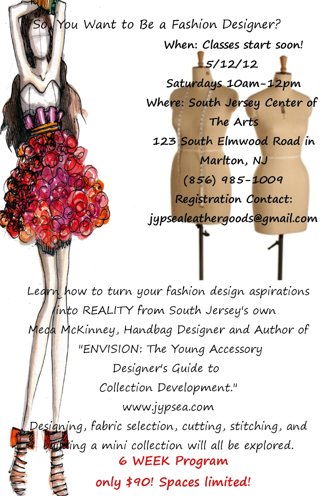 Lifestyles Of The Authentic Creative I M Teaching A Fashion Design Course At The South Jersey Center Of The Arts
