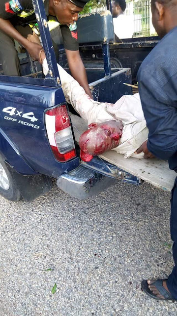 Graphic Photos: Three killed as young man rams his SUV into a Keke in Adamawa State