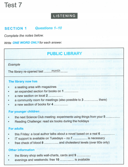 Latihan IELTS | Cambridge IELT 12 | Test 7 | Section 1 | Listening