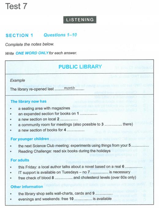 Latihan IELTS | Cambridge IELT 12 | Test 7 | Section 1 | Listening