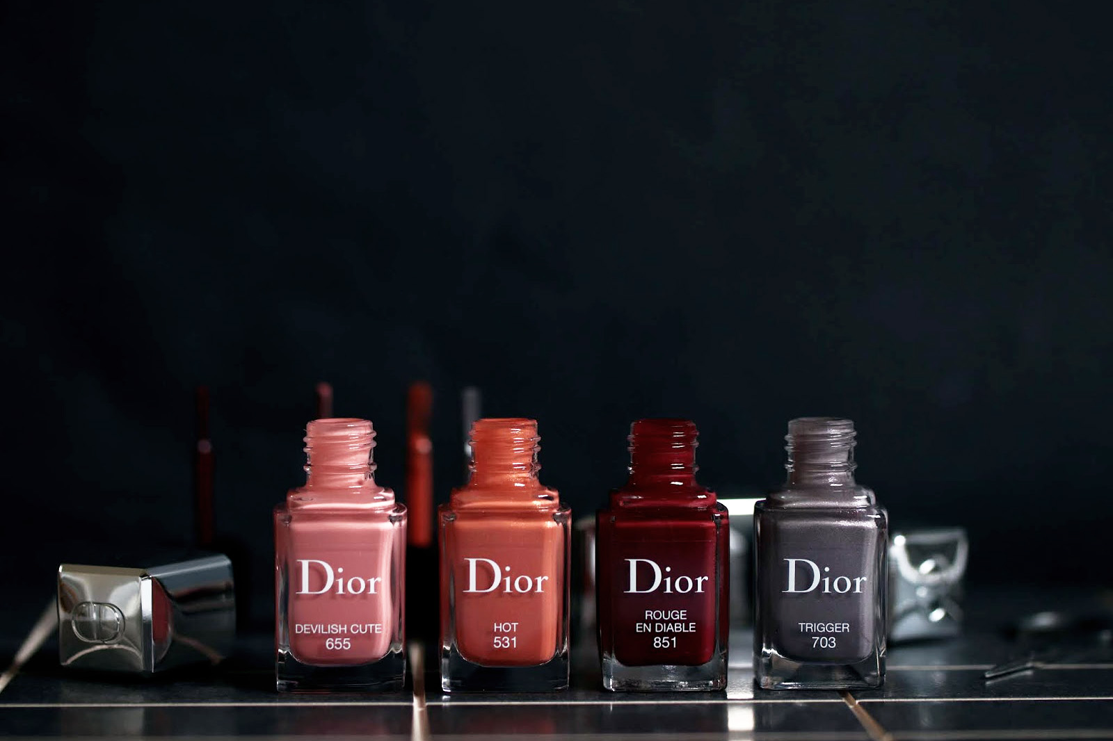 dior vernis 655 devilish cute 531 hot 703 trigger 851 rouge en diable avis test swatch