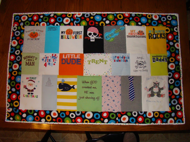 Dr. Seuss themed baby clothes quilt