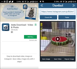 cara download foto dan video menggunakan insta download