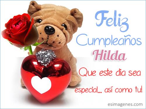 Feliz cumpleaños Hilda - Imágenes Tarjetas Postales con