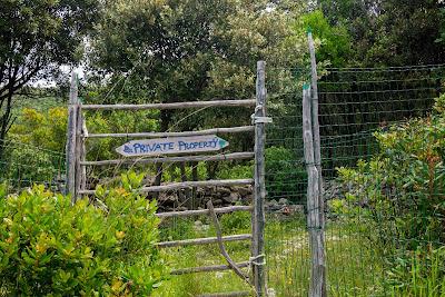lese, zatoke, cancelli sull'isola di Cres