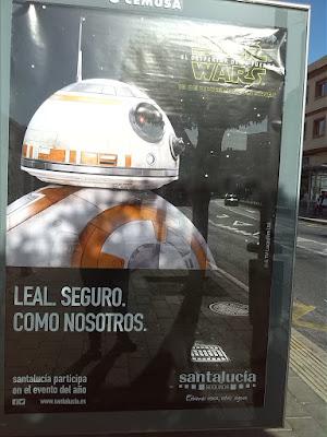 Seguros Santa Lucía cartel Star Wars