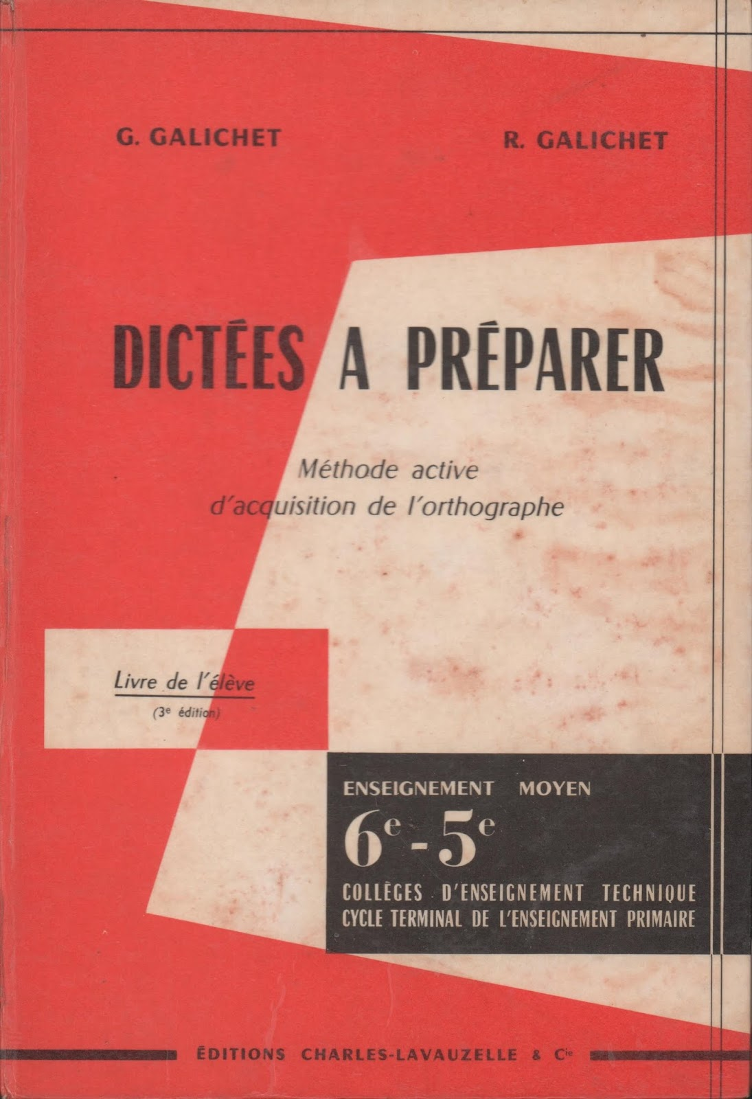Manuels Anciens Galichet Dictees A Preparer 6e 5e Methode