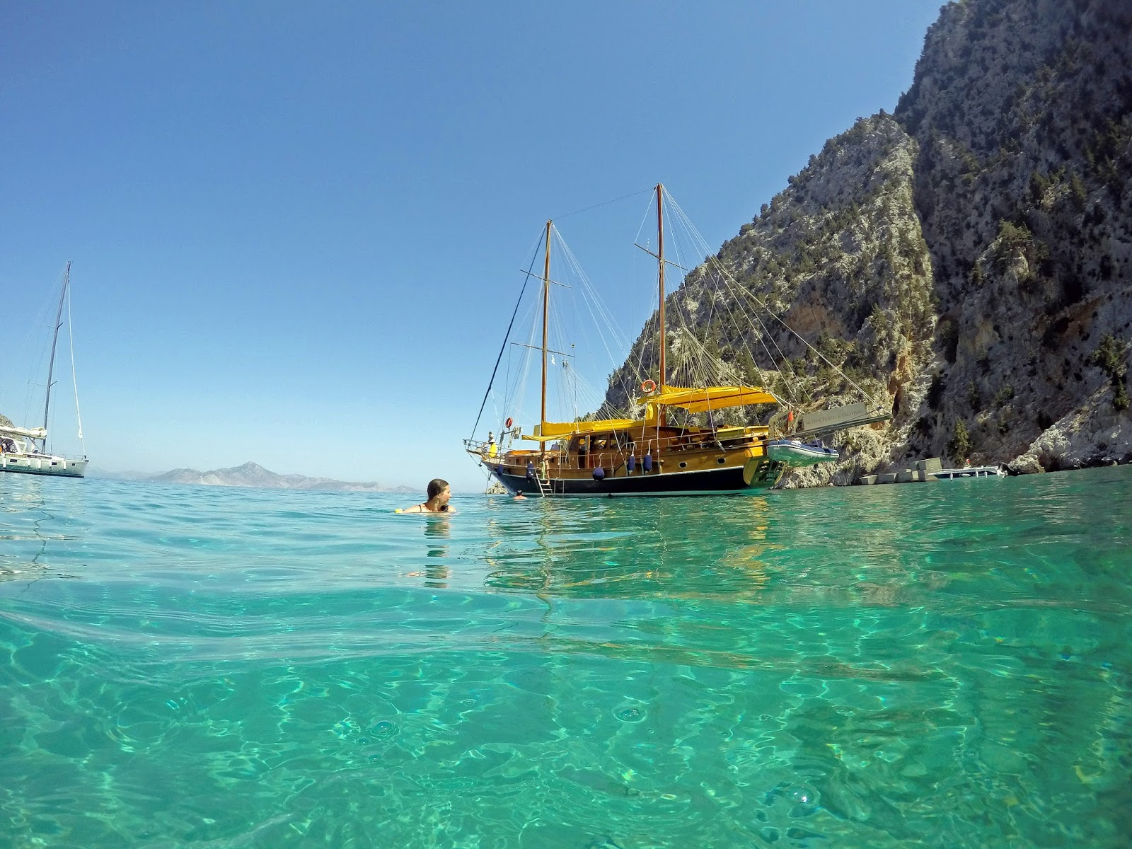 Beautiful Water Sailing in Turkey