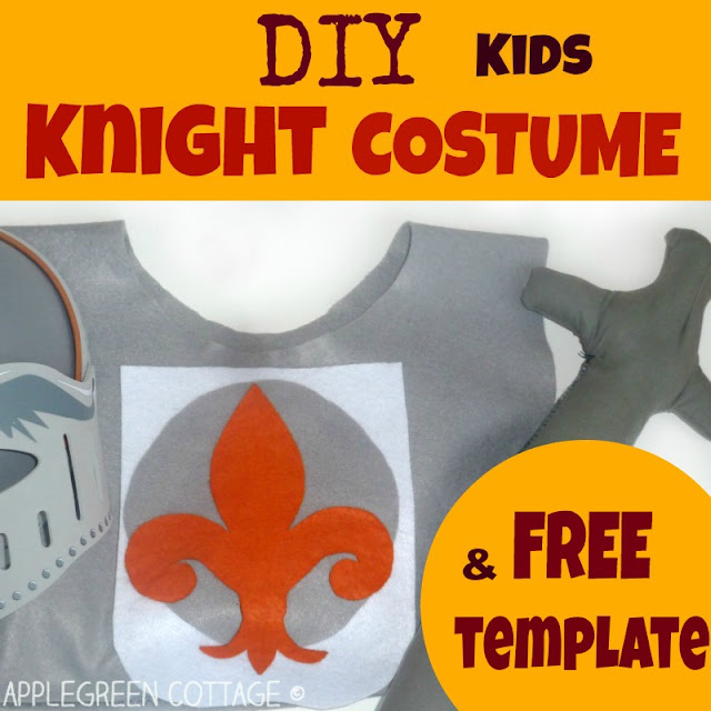 The easiest kids knight costume for Halloween you can make yourself. Check out this easy and quick DIY tunic project - you'll love it!