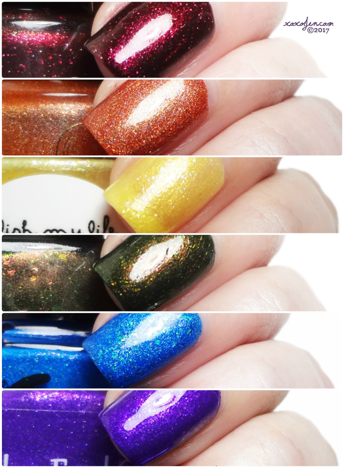 xoxoJen's swatch collage of The Color Box: Rainbow