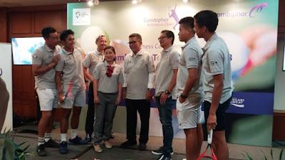 ibu susan soebakti dan peteni indonesia serta narasumber lainnya nurul sufitri combiphar tennis open 2018