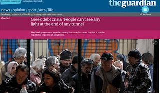 Guardian: Οι πολιτικοί πανηγυρίζουν και οι Έλληνες υποφέρουν