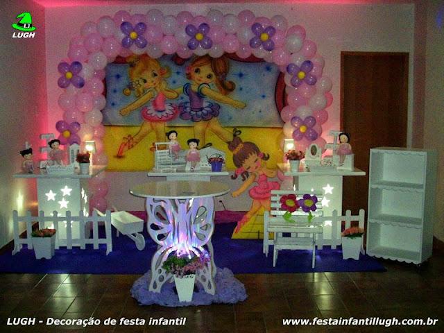 Decoração Bailarinas em mesa provençal para festa infantil