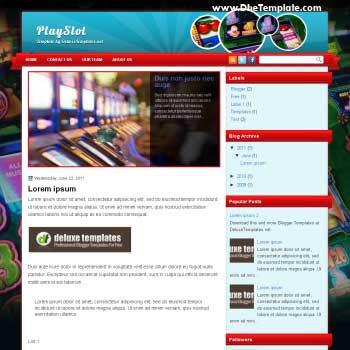PlaySlot blogger template. magazine style template blogger. featured content blogger template. games template blogger