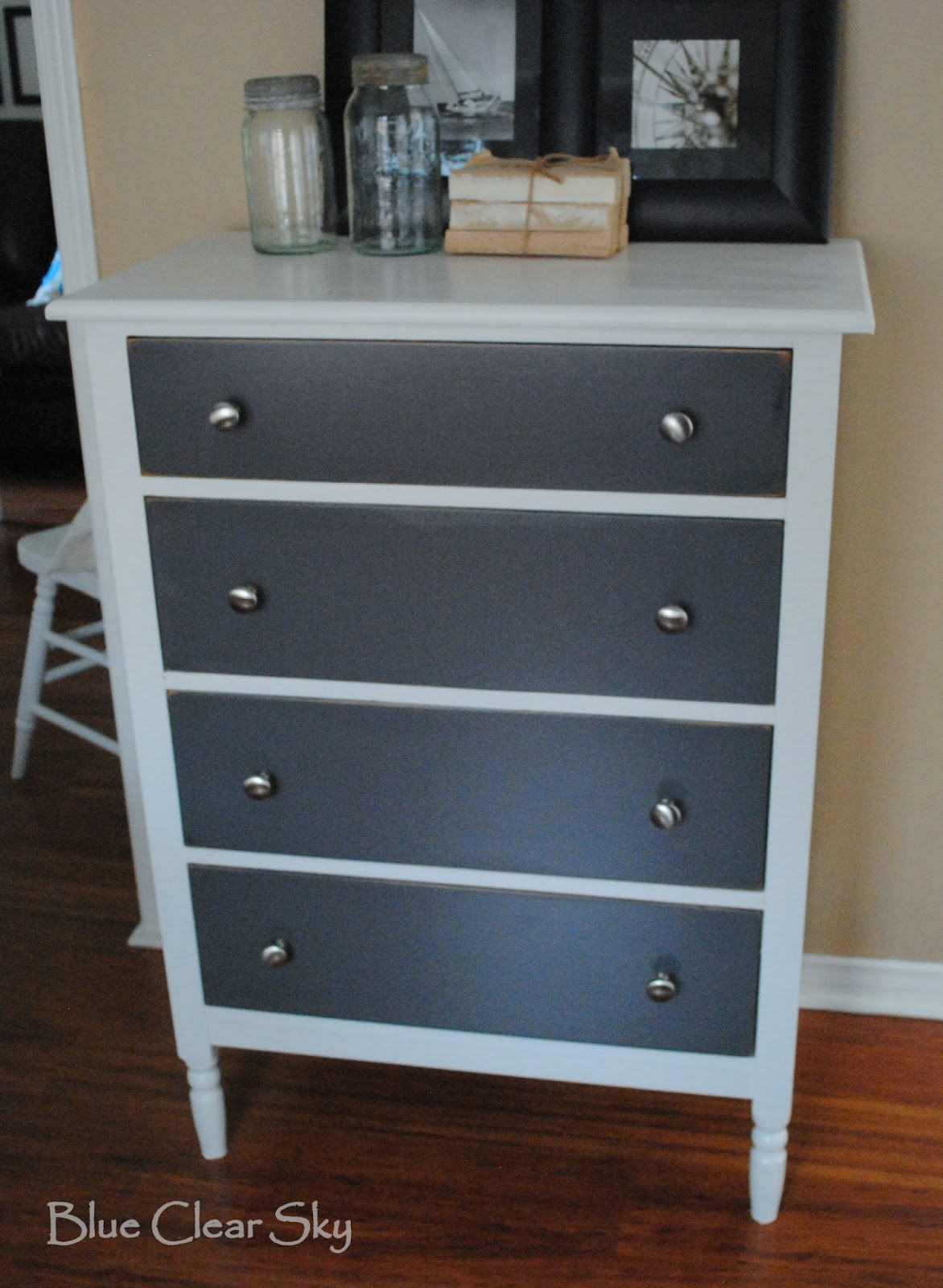 Rustic Maple: Vintage Grey And White Wood Dresser